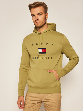 TOMMY HILFIGER TOMMY HILFIGER Суитшърт Flag MW0MW14203 Зелен Regular Fit