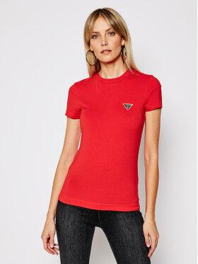 Guess Guess T-Shirt Ss Cn Mini Triangle W1RI04 J1311 Červená Slim Fit