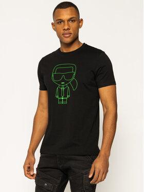 KARL LAGERFELD KARL LAGERFELD T-Shirt Crewneck 755080 501220 Czarny Regular Fit