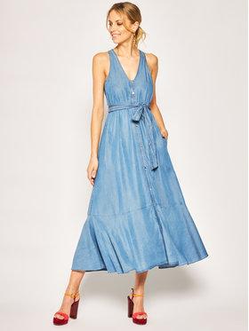 My Twin Džínsové šaty 201MT2194 Modrá Loose Fit