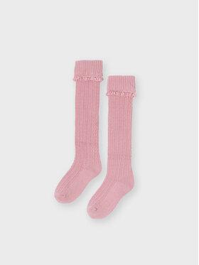 Mayoral Mayoral Vysoké dětské ponožky 10139 Růžová