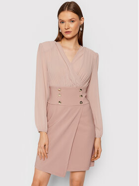 Rinascimento Rinascimento Koktejlové šaty CFC0105049003 Ružová Regular Fit