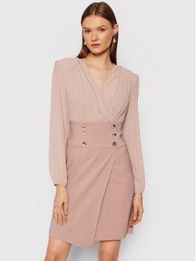 Rinascimento Rinascimento Sukienka koktajlowa CFC0105049003 Różowy Regular Fit