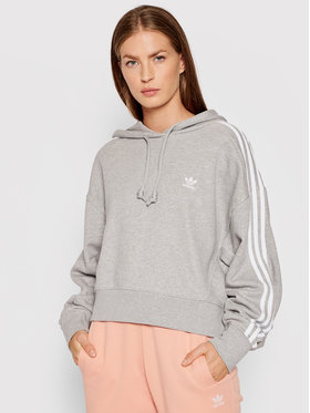 adidas adidas Mikina adicolor Classics Crop H34615 Sivá Relaxed Fit