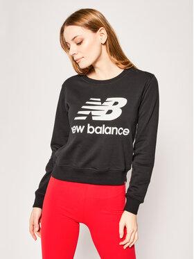 New Balance New Balance Mikina Essentials Crew WT91585 Čierna Relaxed Fit