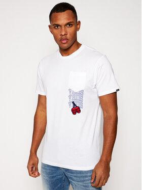 Vans Vans Marškinėliai Mn New Varsity Pocke VN0A54C7 Balta Slim Fit