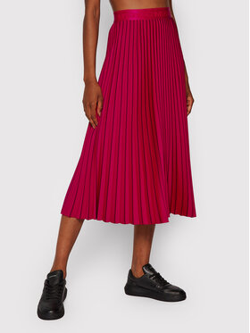 Calvin Klein Calvin Klein Fustă plisată Sunray Pleat Two Tone K20K203072 Roz Regular Fit