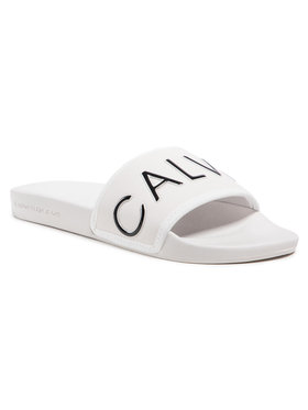 Calvin Klein Jeans Calvin Klein Jeans Nazouváky Slide Padded Ck Pes-Pu YW0YW00131 Béžová