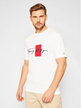Tommy Hilfiger Tommy Hilfiger T-shirt Box Signature MW0MW15331 Bianco Regular Fit