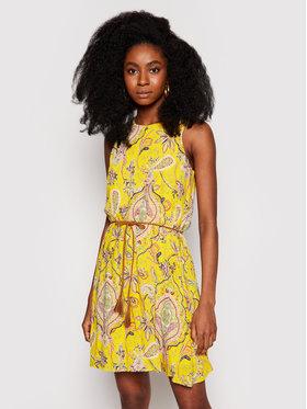 Desigual Desigual Sukienka letnia Adriana 21SWVWAX Żółty Regular Fit