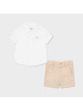 Mayoral Mayoral Комплект от риза и текстилни шорти 1252 Цветен Regular Fit