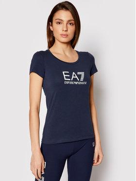 EA7 Emporio Armani EA7 Emporio Armani Marškinėliai 8NTT63 TJ12Z 1554 Tamsiai mėlyna Slim Fit