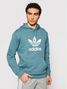 adidas adidas Bluza Trefoil GN3461 Zielony Regular Fit