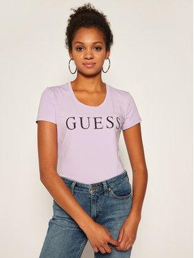Guess Guess T-Shirt Emma W0YI0F J1300 Fialová Slim Fit