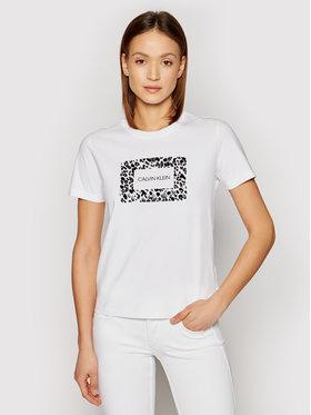Calvin Klein Calvin Klein Тишърт Ss Leo Box K20K202910 Бял Regular Fit