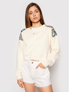 Roxy Roxy Majica dugih rukava Marine Bloom ERJFT04411 Bež Relaxed Fit