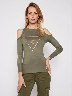 Guess Guess Sweater Aurelie W1RR0D Z2NQ0 Zöld Regular Fit
