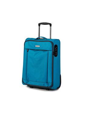Wittchen Wittchen Kis szövetborítású bőrönd 56-3S-461-95 Kék