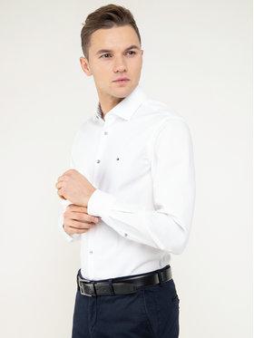 Tommy Hilfiger Tailored Tommy Hilfiger Tailored Koszula Oxford Classic TT0TT06520 Biały Slim Fit