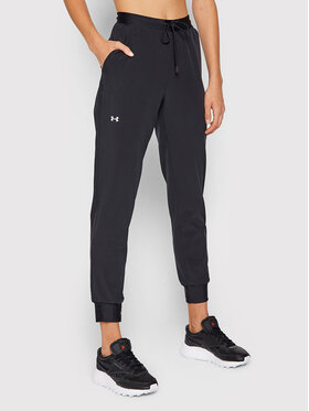 Under Armour Under Armour Donji dio trenerke Ua Woven 1348447 Crna Loose Fit