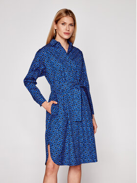 Weekend Max Mara Weekend Max Mara Rochie tip cămașă Girino 52211811 Bleumarin Regular Fit