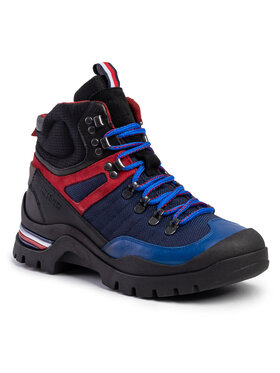 TOMMY HILFIGER TOMMY HILFIGER Auliniai batai Material Mix Outdoor Boot FM0FM02588 Tamsiai mėlyna