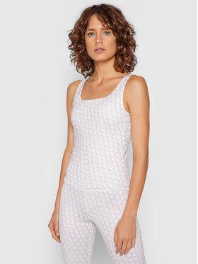 Guess Guess Marškinėliai Caitlin Logomania O1BA23 MC03W Smėlio Slim Fit