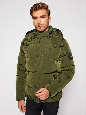 Calvin Klein Calvin Klein Пухено яке Crinkle Mid Length K10K105970 Зелен Regular Fit