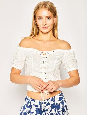 Guess Guess Μπλουζάκι Marietta W0GP91 K9QO0 Λευκό Regular Fit