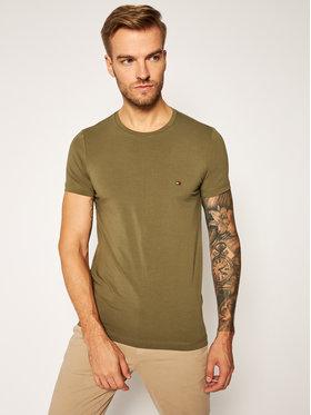Tommy Hilfiger Tommy Hilfiger T-Shirt MW0MW10800 Zielony Slim Fit