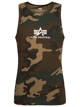 Alpha Industries Alpha Industries Tank top Basic Camo 126566C Zielony Regular Fit