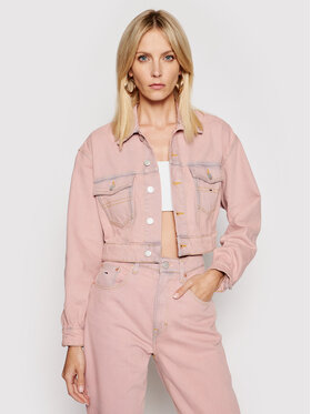 Tommy Jeans Tommy Jeans Giacca di jeans Trucker DW0DW10075 Rosa Regular Fit