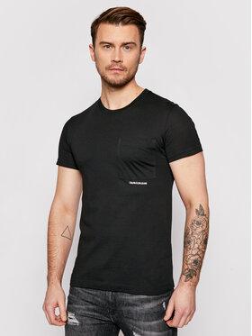 Calvin Klein Jeans Calvin Klein Jeans Póló J30J317275 Fekete Regular Fit