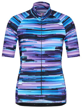 Quest Quest Dviratininko marškinėliai Halifax Violetinė Race Fit