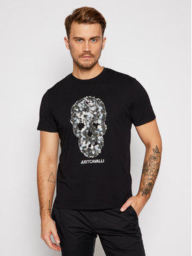 Just Cavalli Just Cavalli T-Shirt S03GC0612 Czarny Regular Fit