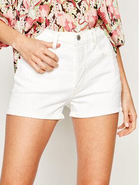 Levi's® Levi's® Szorty jeansowe 501® High-Waisted Shorts 56327-0025 Biały Slim Fit