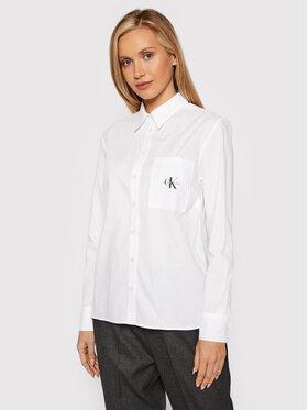 Calvin Klein Jeans Calvin Klein Jeans Риза J20J216665 Бял Regular Fit