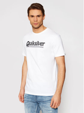 Quiksilver Quiksilver T-Shirt New Slang Ss EQYZT05754 Bílá Regular Fit