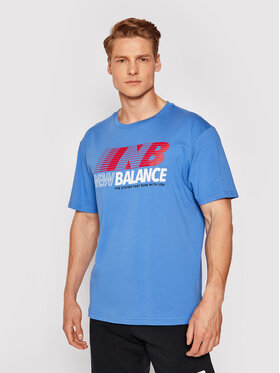 New Balance New Balance T-Shirt MT03513 Granatowy Relaxed Fit