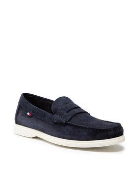 Tommy Hilfiger Tommy Hilfiger Mokasinai Sustainable Loafer Shoe FM0FM03603 Tamsiai mėlyna
