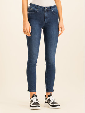 Calvin Klein Calvin Klein Slim fit džínsy Blue Skinny Ankle Jean K20K201702 Tmavomodrá Slim Fit