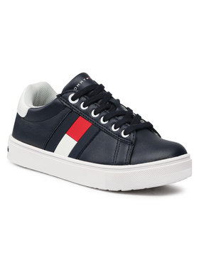 TOMMY HILFIGER TOMMY HILFIGER Sneakersy Low Cut Lace-Up Sneaker T3B4-30921-0900 M Tmavomodrá