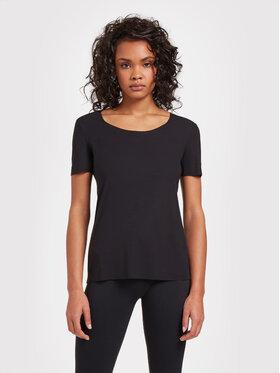 Wolford Wolford T-shirt Aurora Pure 52764 Nero Slim Fit