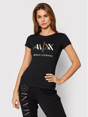 Armani Exchange Armani Exchange T-Shirt 6HYTAH YJ73Z 1200 Černá Slim Fit