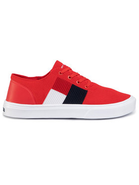 TOMMY HILFIGER TOMMY HILFIGER Sneakersy Lightweight Knit Flag Sneaker FM0FM02545 Červená
