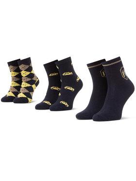 Mayoral Mayoral Súprava 3 párov vysokých detských ponožiek 10831 Čierna