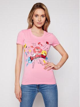 LOVE MOSCHINO LOVE MOSCHINO T-Shirt W4H1905E 1951 Růžová Slim Fit