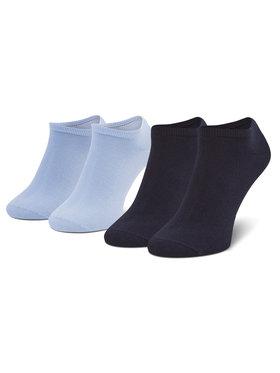 Tommy Hilfiger Tommy Hilfiger Set de 2 perechi de șosete medii pentru bărbați 342023001 Albastru