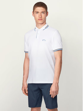 Boss Boss Polo Paul Curved 50412675 Bianco Slim Fit