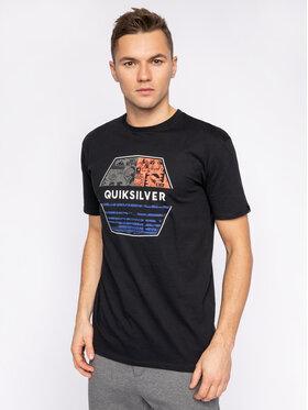 Quiksilver Tričko Drift Away EQYZT05765 Čierna Regular Fit